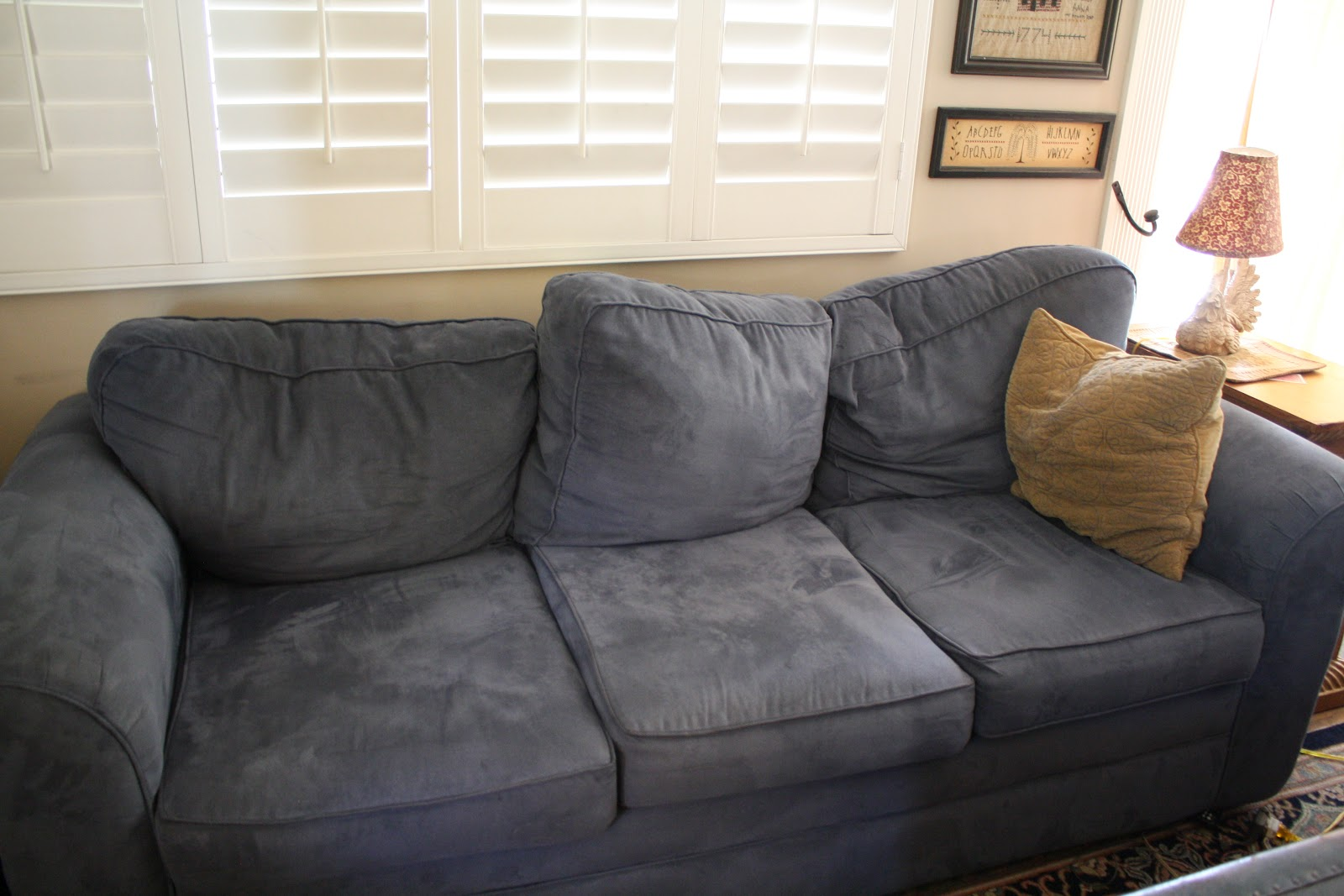 Refilling Sofa Cushions Gray Leather Sets Sunny Simple Life How To Refill Couch Cheaply